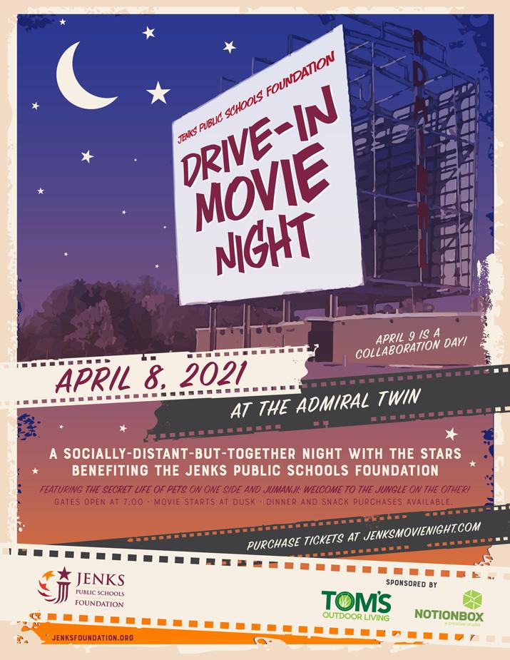 Jenks Public Schools Foundation Drive-in Movie Night