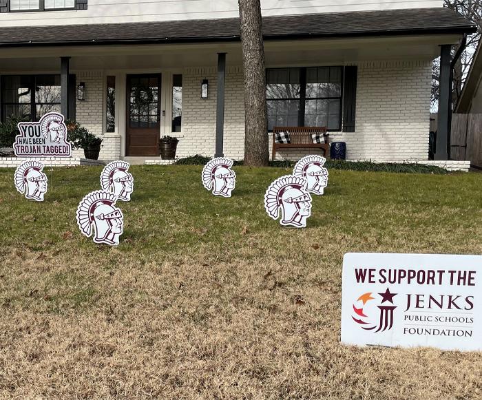 Jenks Public Schools Foundation Trojan Tag
